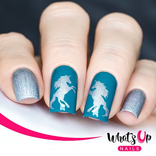 Whats Up Nails - Unicorn Vinyl Stencils for Nail Art Design (2 Sheets, 40 Stencils Total) for $<!--$4.75-->