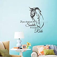 2016 NEW If You Climb Into The Saddle Horse Wall Stickers Home Decor Living Room Vinyl Wall Decals Removable DIY Stickers