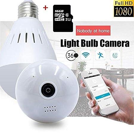 UGI 360° Gran Angular HD WiFi Bombilla cámara Oculta con ...