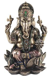 Signes Grimalt 45906 - Figura decorativa (18 x 11 x 11 cm, 835 g, resina), diseño de dios hindú Ganesha