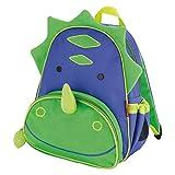 Skip Hop Zoo Little Kid and Toddler Backpack, Ages 2+, Multi Dakota Dinosaur