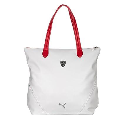 189fe3cb70c3 Puma Ferrari LS Shopper Handbag (Whisper White and Rosso Corsa)  Amazon.in   Shoes   Handbags