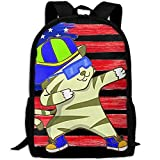 JKCSD Mens Hip Hop Dabbing Tiger Cat Dab Dance Travel School Computer Daypack Backpacks