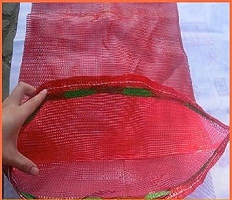 20 sacos tejidos de malla para verduras, leña, madera, astillas, de 50 x 65 cm, soportan hasta 30 kg