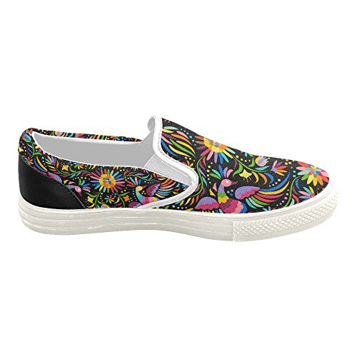 D-story Custom Sneaker Mujeres Slip-on Canvas Zapatos Mullticolored19