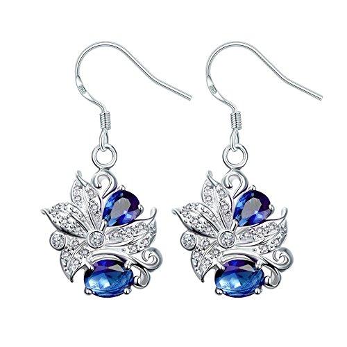 BaoyuXuan Women Elegant And Stylish Fashion Lady Earrings SPE025-A Blue