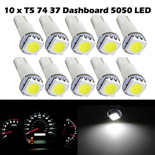 Partsam 4PCS Blue BA9S 1895 5050 SMD Instrument Panel LED Light Gauge Cluster Dashboard Lamp Bulbs