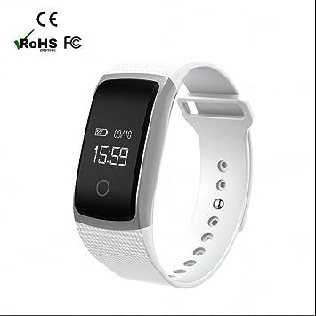 Pulsómetro Reloj Deportivo Monitores de actividad reloj deportiva Inteligente con Tensiómetro Monitor de Dormir y sedentario Recordatorio Bluetooth ...