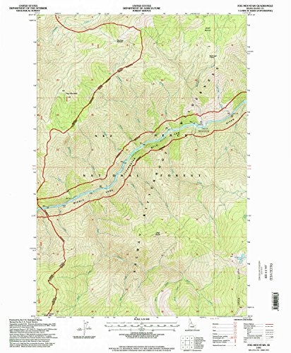 YellowMaps Fog Mountain ID topo map, 1:24000 Scale, 7.5 X 7.5 Minute, Historical, 1995, Updated 1998, 26.7 x 22 in - Paper