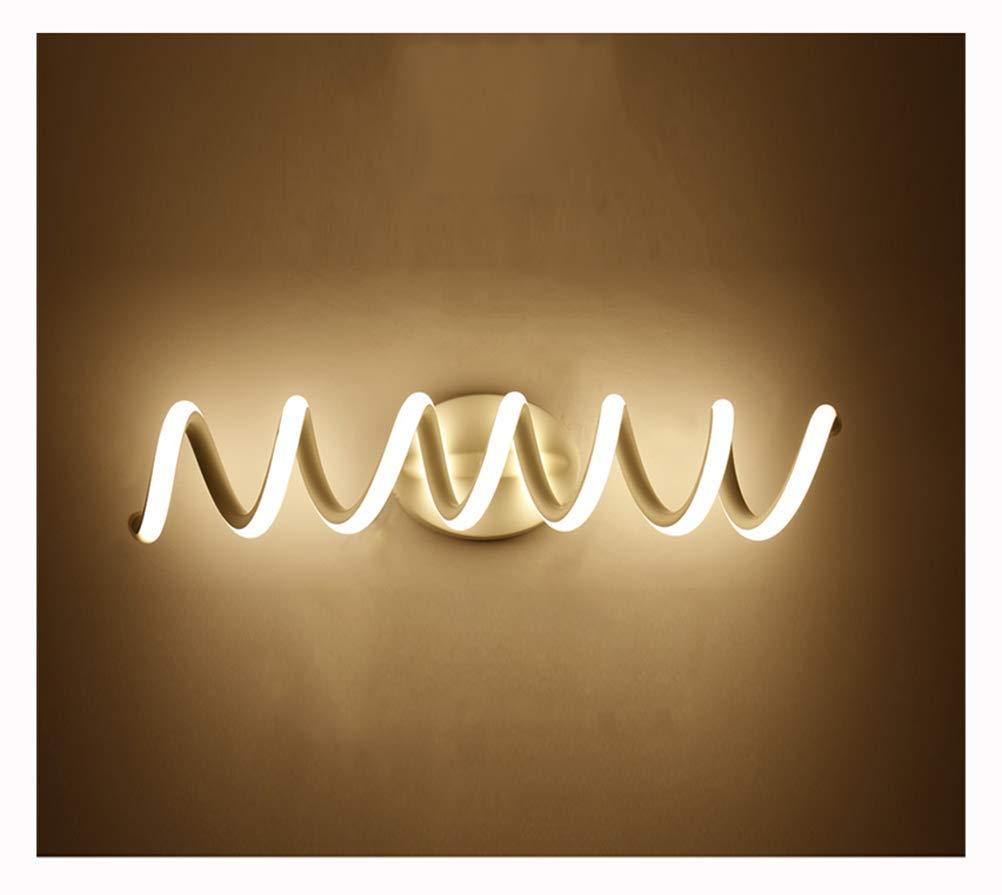 Warm Light-33cm Beleuchtung LED-Spiegel Scheinwerfer, Spiral Bad Bad Anti-Fog-Spiegel Kabinett Licht Bad Einfache Moderne Nordic Make-up Wandleuchte (Farbe  warmes Licht-33cm)