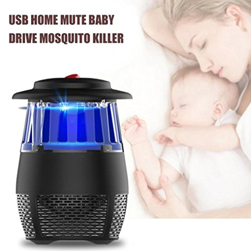 USB Stheanoo Mosquito Zappers Electric Fly Bug Insect Killer LED Light Pest Trap Lamp Non-toxic, Non-polluted, Radiation-free Mosquito Killer for Home Kitchen Bedroom (black) by Stheanoo Zapper (Image #7)