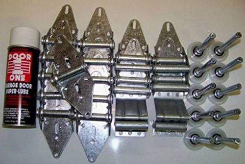 Building & Hardware Garage Door Roller Wheel & Hinge KIT - Two car Door 7' TALL DOORS by Luxor Brand Hinge Kit (Image #1)