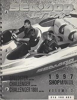 1997 sea doo jet boats speedster challenger shop manual vol 2 p n rh amazon com 1998 Seadoo Challenger 1997 seadoo challenger 1800 repair manual