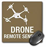 3dRose LLC 8 X 8 X 0.25 Inches Mouse Pad Brown Drone with Remote Sensing (Mp_179896_1)