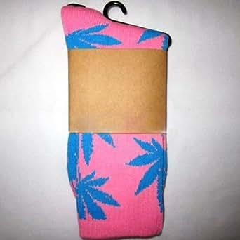 One Pair New Plantlife Marijuana Weed Leaf Cotton High Socks Men/women BJF25-J-18