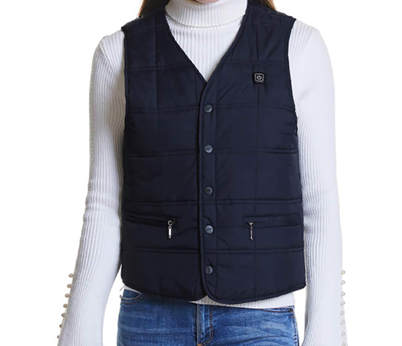 Beheizte Weste, USB-Lade beheizter Kleidung Warmer Down Vest beheizte Kleidung für Outdoor-Reiten Skifahren Angeln Wanderung und Camp