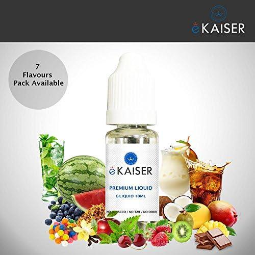 Ekaiser 5 e-líquidos de 10 ml Paquete dulce | Goma de marcar | Tutti-Fruiti | Algodón de azúcar | Chocolate | Cola | Mezcla de VG & PG | Hecho para cigarrillos