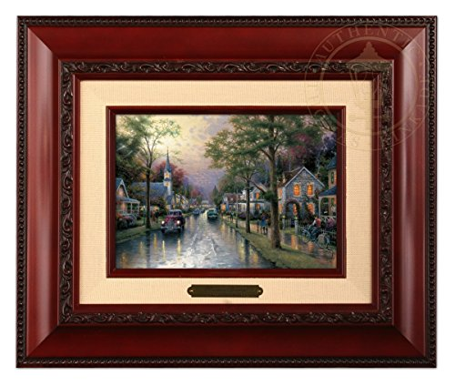 - Thomas Kinkade Hometown Morning Brushwork (Brandy Frame)