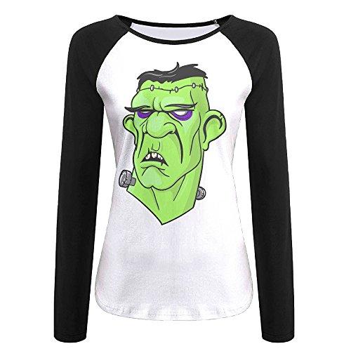 Ms Frankenstein Costume (AIJFW Fictional Character Women's Crewneck Raglan T-Shirt Top XL)
