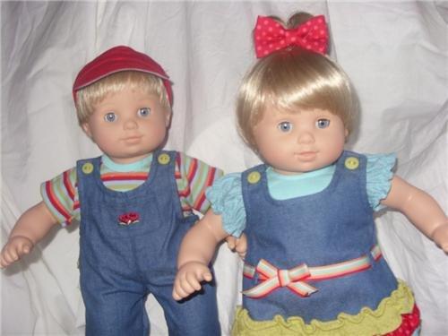 American Girl Denim (Bitty Twins - Light Skin, Blond Hair Girl & Boy)