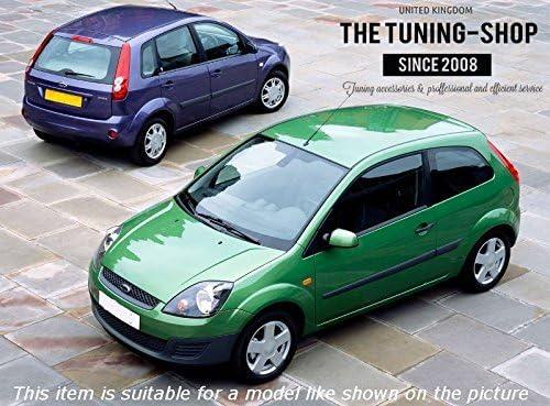 para Ford Fiesta MK6 2002-2008, manual, cuero Funda para freno de mano The Tuning-Shop Ltd color negro y costuras azules