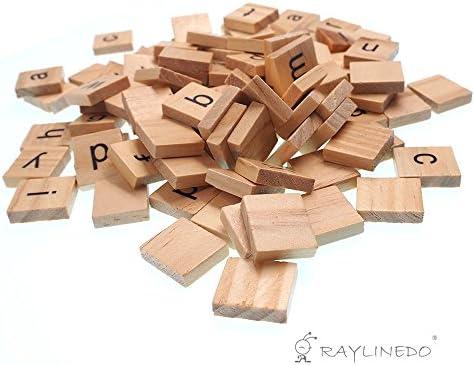 Raylinedo 200 x Letras de madera para Scrabble Scrabbles número Crafts Inglés palabras minúsculas Mixed: Amazon.es: Juguetes y juegos