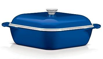 Tramontina - Cacerola horno LYON Azul: Amazon.es: Hogar