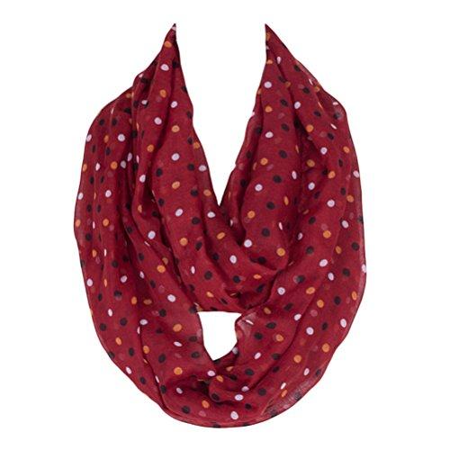 Kingree Fashion Pattern Premium Soft Loop Infinity Scarf Polka Dot Series, -