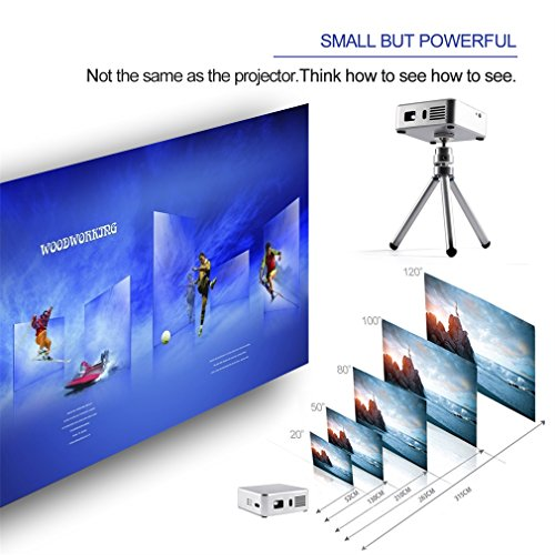 Mini Projector E05 Android 4.4 WiFi TV Box HD LED DLP Multimedia ...
