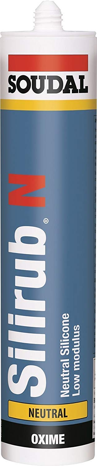 Soudal Silirub N LMN (Low Modulus Neutral) Silicone Sealant - Black (1)