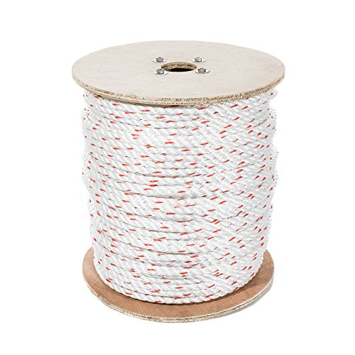 - Poly Dacron Rope (3/8 Inch, 100 Feet) Twisted 3 Strand Line - Marine, Commercial, Arborist, DIY Projects
