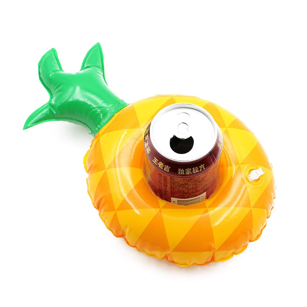 DierCosy 4Pcs Inflatable Drink Holder Pineapple Shape Inflatable Pool Cup Holder Pool Party Cup Fun Coaster