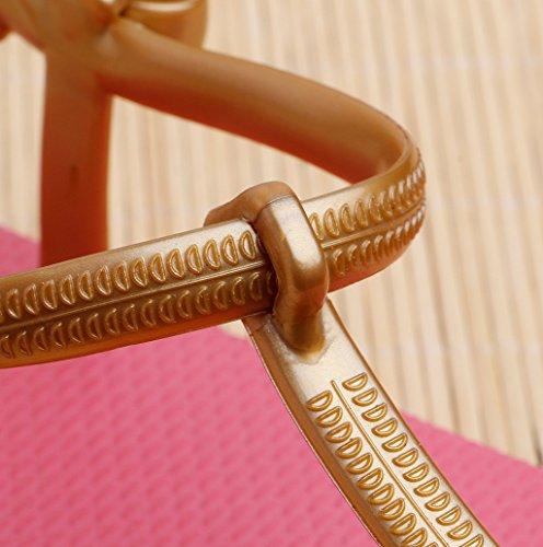 Dairyshop Scarpe antisdrucciolevoli romanzane romaniche T-Strap Block pantofole Sandali da spiaggia flip-flops estate