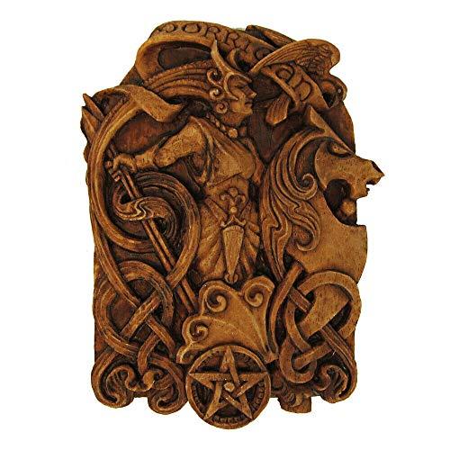 DD Tem 1 Pc Celtic Knot Morrigan Raven Goddess Plaque - Wicca Pagan - Wood Finish (Goddess Celtic Knot)