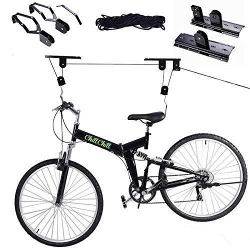 S AFSTAR Safstar Bike Lift Ceiling Rack Bicycle Mount Hoist Storage Garage Hanger Pulley