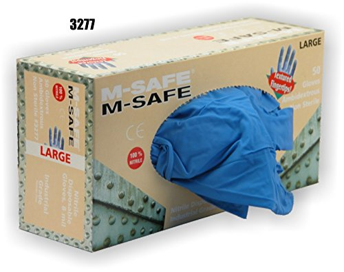 (20 Boxes) Majestic POWDER FREE 8 MIL DISPOSABLE NITRILE GLOVES, 50/BOX - 2X LARGE(3277/12)