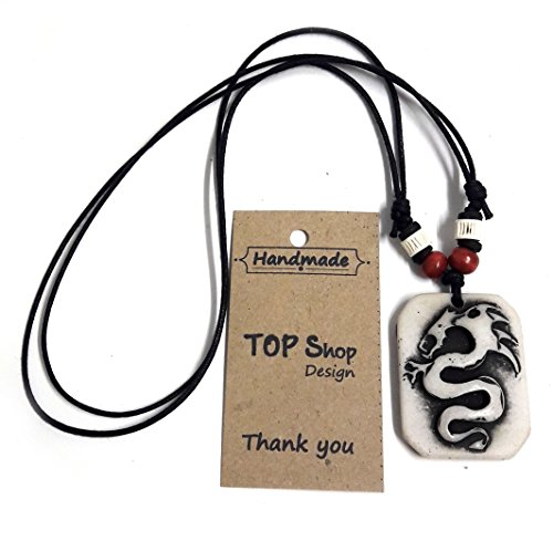 Chinese Dragon Amulet Pendant Pendant Necklace Adjustable Surfer Necklace - Jewelry (Mother Nature Adult Plus Costumes)