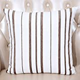 ZUOANCHEN Cushion Art Stripe Sofa Pillow Bay Window Cushion Office Lumbar Car Lumbar Cushion with Pillow Blue 5050cm (Color : B)