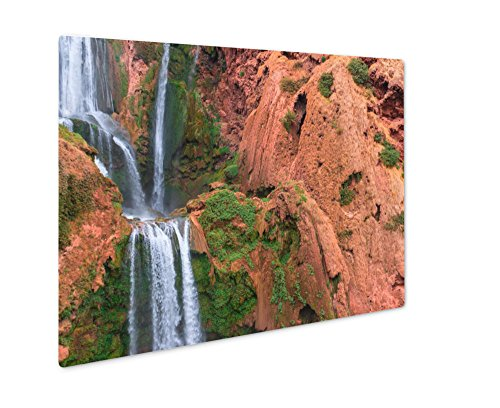 Ashley Giclee Beautiful Waterfall In Ouzoud Azilal Morocco Grand Atlas, Wall Art Photo Print On Metal Panel, Color, 8x10, Floating Frame, AG5603542