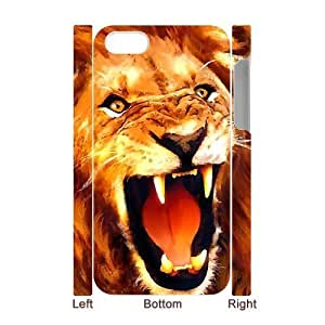 3D Bumper Plastic Case Of Lion customized case For Iphone 4/4s