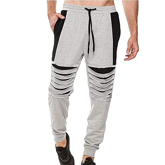 Hombre Casual Baggy Jogging Chándal Bottoms Training Running ...