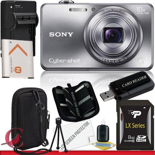 Sony Cyber-shot DSC-WX150 Digital Camera (Silver) 8GB Package - Camera Wx150 Sony