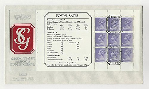 Great Britain, Postage Stamp, MH92b Booklet Pane First Day Cover, 1982