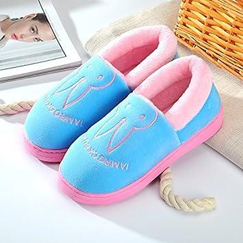 Y-Hui Tasche aus Baumwolle Pantoffeln mit Paare Home Soft Dick Unten Unten Gleiter im Winter Indoor Heimtextilien Schuhe, 40-41 (Fit für 39-40 Fuß), Rosa (Verbot Bao)