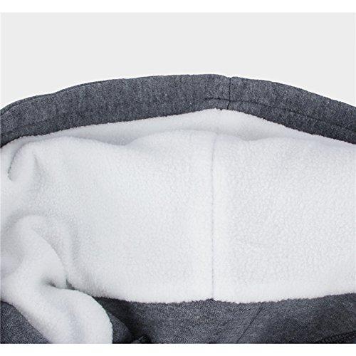 Maniche Lunghe Grigio Size Colore Calda Eleganti Donna Con Mid Cerniera Giacche Vintage Button Giacca Lunghezza Moda Tasca Giovane Cappotto Puro Plus Giubbotto Invernali Cappuccio 1PwgxSqg7