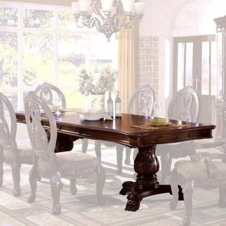 Tuscany Antique Cherry Pedestal Dining Table by Furniture of America (Tuscany Room Dining Furniture)