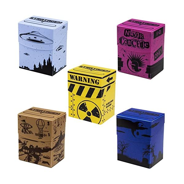 Deluxe Deckbox Multipack with Dividers - Set of 5 Customized Extra Large Deck Boxes for Trading Card Game & Collectible… 3