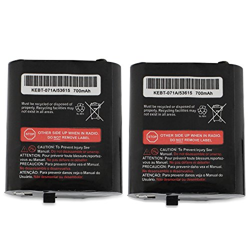 abcGoodefg 3.6V 700mAh Two Way Radio Replacement Battery for Motorola Talkabout MS350R MR350R MJ270R EM1000 T5100 T6500 T8500 T9500 MC220 (2PCS)