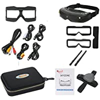 Skyzone SKY02S V+ 3D 5.8G 48CH FPV Goggles Video Glasses Tracker Head Tracking HDMI-IN Channel DVR (No Transmitter No Camera )- Black
