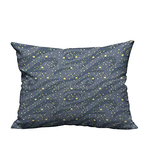 fengruihome Lovely Cushion Covers m y Bright Stars in The Night Sky be use for Wallpaper Textile Resists Wrinkles 19.5x54 inch(Double-Sided Printing)